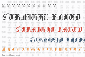Gothic Straight Faced Font
