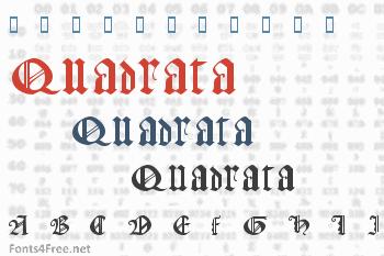 Gothic Texture Quadrata Font
