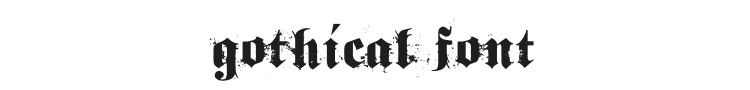 Gothical Font Preview