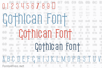 Gothican Font
