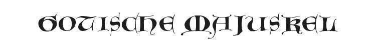 Gotische Majuskel Font Preview