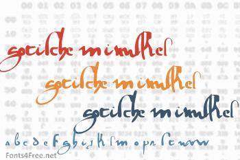 Gotische Minuskel 1269 Font