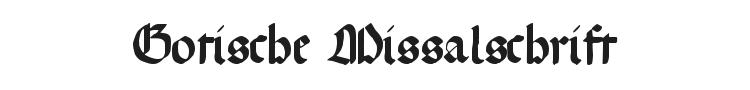 Gotische Missalschrift Font Preview