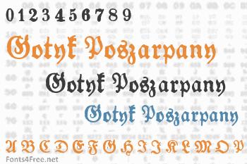 Gotyk Poszarpany Font