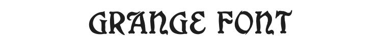 Grange Font Preview