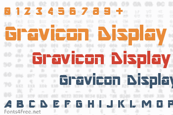 Gravicon Display Font