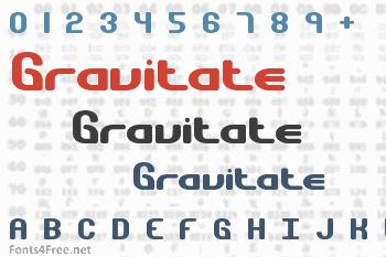 Gravitate Font