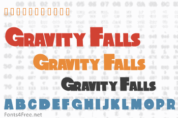Gravity Falls Font