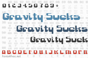 Gravity Sucks Font