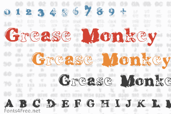 Grease Monkey Font