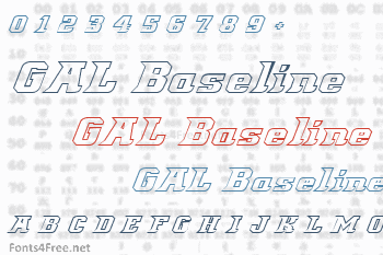 Great American League Baseline Font