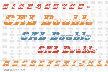 Great American League Double Font