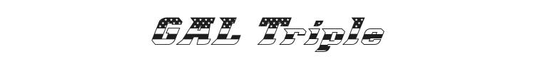 Great American League Triple Font Preview