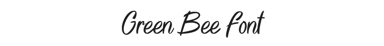 Green Bee Font Preview