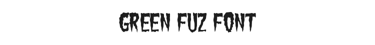 Green Fuz Font Preview