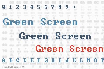 Green Screen Font