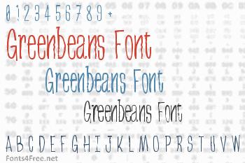 Greenbeans Font