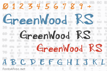 GreenWood RS Font