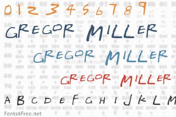 Gregor Millers Friends Font