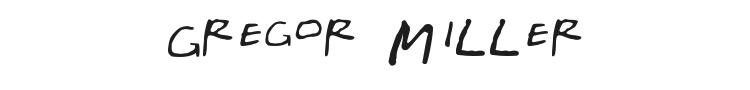 Gregor Millers Friends Font Preview