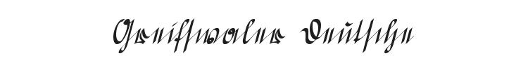 Greifswaler Deutsche Schrift Font Preview