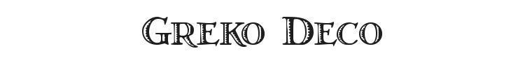 Greko Deco Font