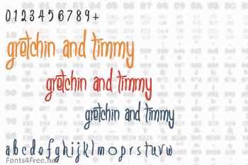 Gretchin And Timmy Font