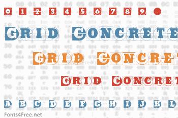 Grid Concrete Font