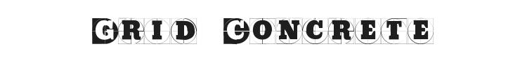Grid Concrete Font Preview