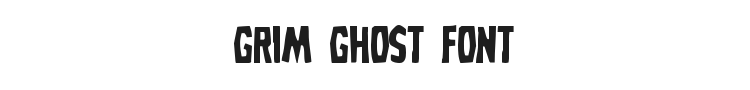 Grim Ghost Font Preview