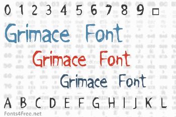 Grimace Font
