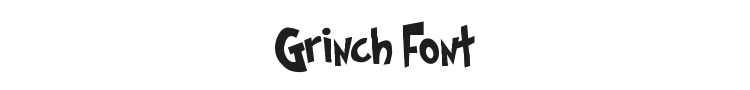 Grinched Font Preview