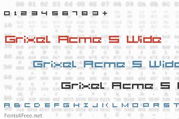 Grixel Acme 5 Wide Font
