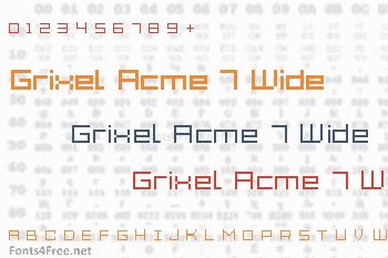 Grixel Acme 7 Wide Font