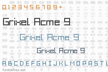 Grixel Acme 9 Font