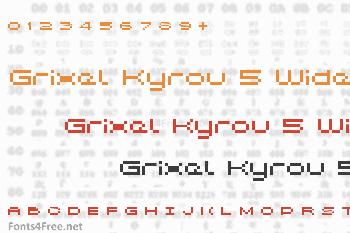 Grixel Kyrou 5 Wide Font