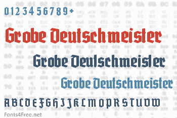 Grobe Deutschmeister Font