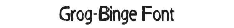 Grog-Binge Font Preview