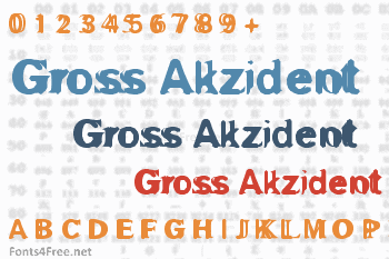 Gross Akzident Fucked Font
