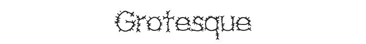 Grotesque Font