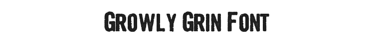 Growly Grin Font Preview