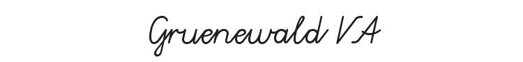 Gruenewald VA Font Preview