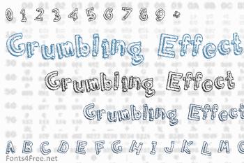 Grumbling Effect Font