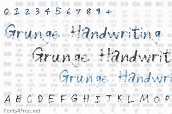 Grunge Handwriting Font