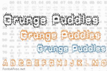 Grunge Puddles Font