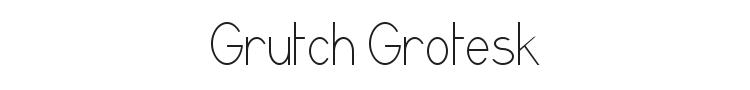 Grutch Grotesk Font