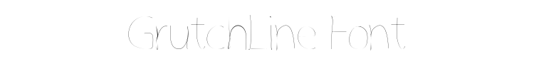 GrutchLine Font Preview