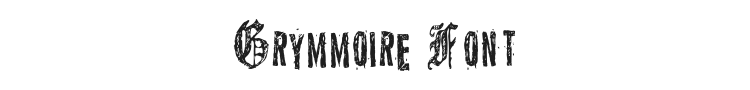 Grymmoire Font Preview