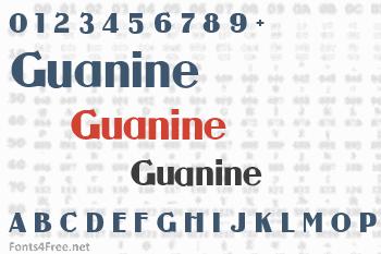 Guanine Font