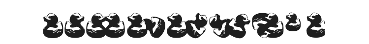 Gugli Ducky Rubber Font Preview